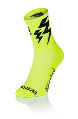 Lightning Socks Fluo Yellow
