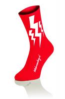 Lightning Socks Red